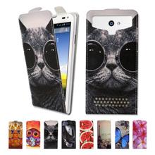Luxury high-grade printed cartoon universal flip leather phone case for Prestigio MultiPhone 5517 DUO,free gift(China (Mainland))