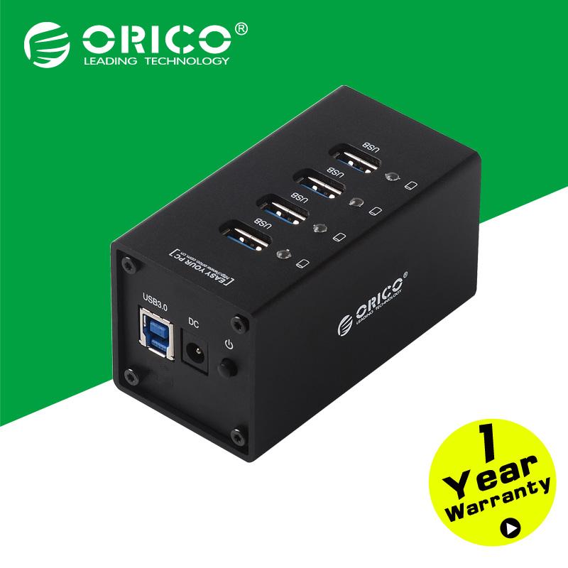все цены на USB разветвитель ORICO a3h4/bk 4 USB 3.0 12 /2.5A A3H4-BK онлайн