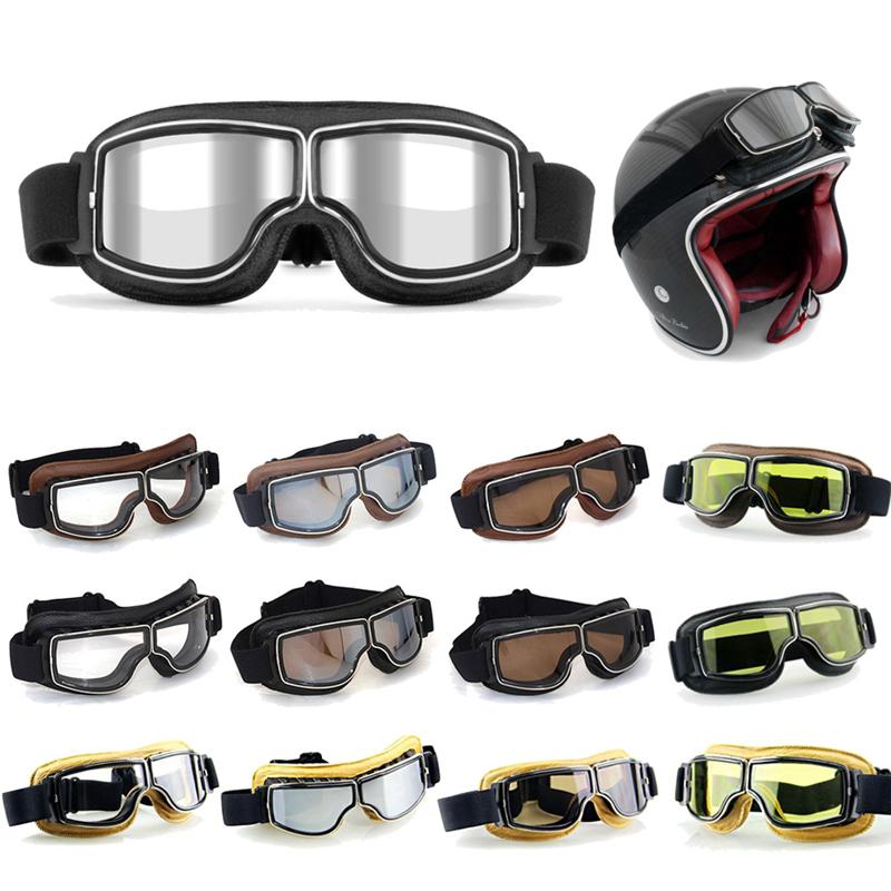 12 Colors Vintage goggle for Harley style motorcycle goggles Pilot Motorbike goggles Retro Jet Helmet Eyewear Cruiser(China (Mainland))