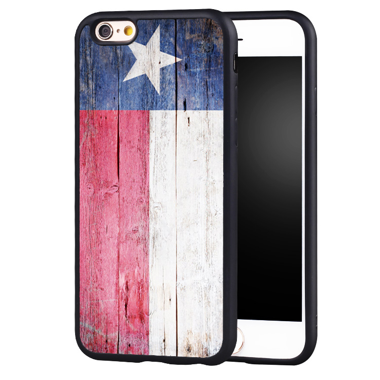 Retro Wood Print Texas Flag Printed Soft Rubber Mobile Phone Cases For iPhone 6 6S Plus 7 7 Plus 5 5S 5C SE 4 4S Cover Skin(China (Mainland))
