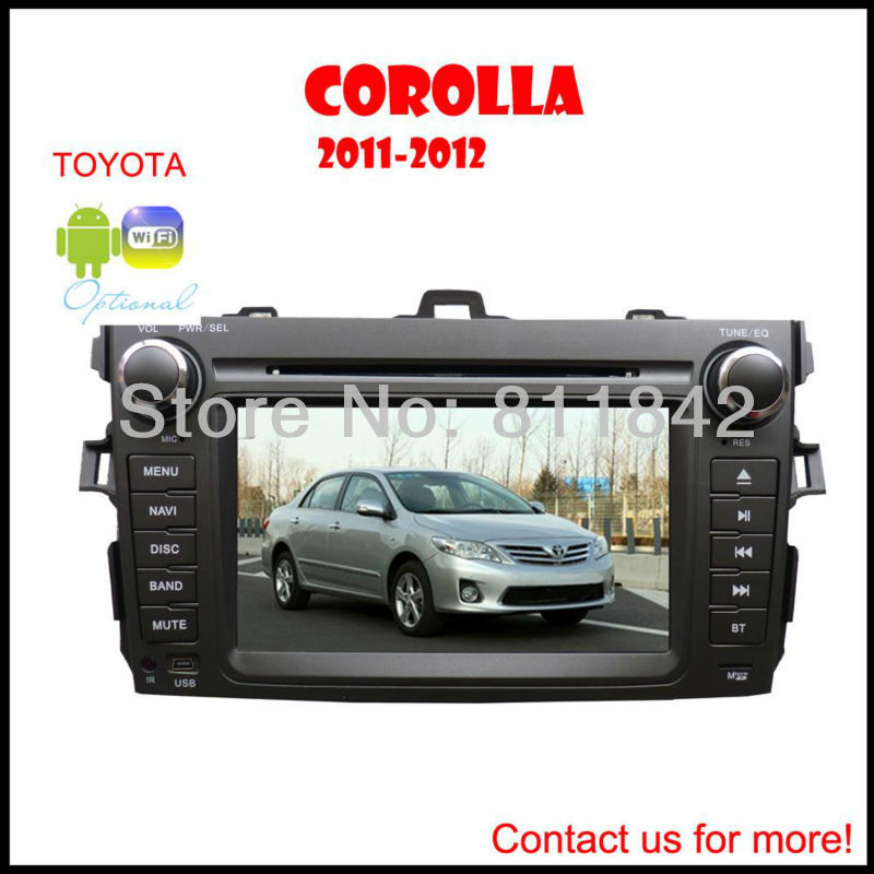 In-Dash Car GPS Radio DVD Players Navi Built-in FM/AM forToyota corolla with GPS,DVD, BT, iPOD, RDS, TV functions, Review Camera(China (Mainland))