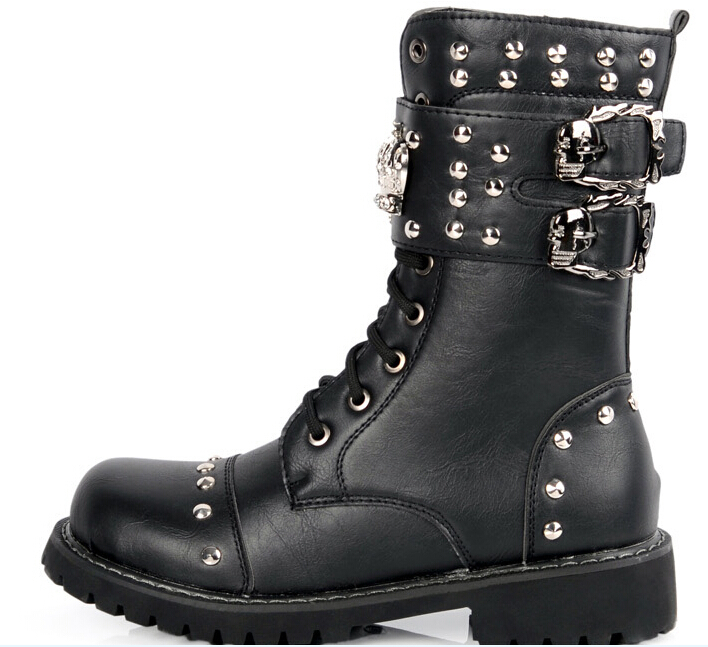 motorcycle boots shoes mens fashion vintage