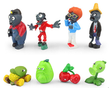 16pcs/set Plants VS Zombies PVZ Collection Figures Toy plant and zombies figure Toys Free Shipping