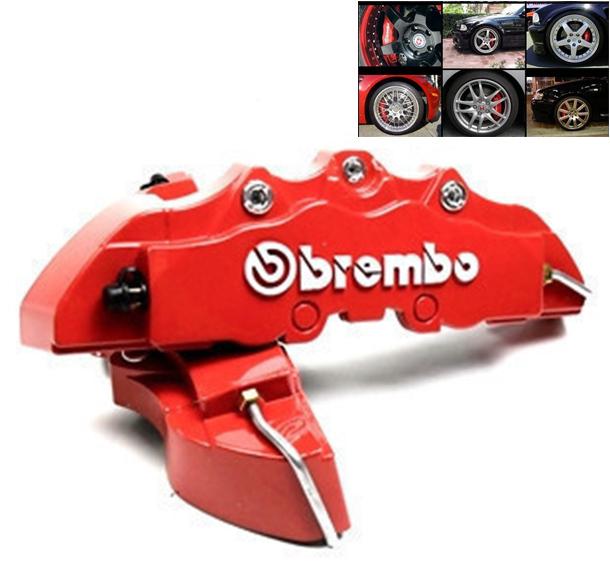 4 шт / комплект автомобиль тормозной суппорт перед зад 3D Brembo дисковый тормоз суппорт крышки чехол 5 цветов