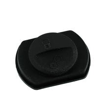 New 2 Button Car Vehicle Key Keyless shell FOB Rubber Pad Replacement For Mitsubishi Warrior Repair Black(China (Mainland))