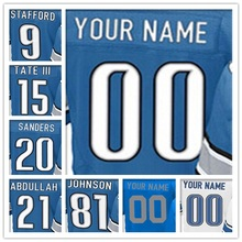 Men's Elite Jersey 100% Stitched #9 Matthew #15 Golden #20 Barry #21 Ameer #81 Calvin Elite Blue White Light Blue Football Je(China (Mainland))