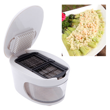 3 in 1 Plastic Garlic Press Presser Crusher Slicer Grater Dicing Slicing and Storage Kitchen Fruit Vegetable Cooking Tools(China (Mainland))
