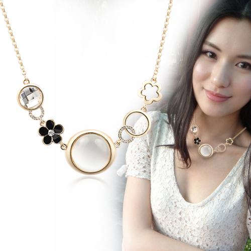 Free Shipping Luxury Cat-eye Exaggerated Necklace Female Short Design Chain Small Clothes and Accessories Min Order $20