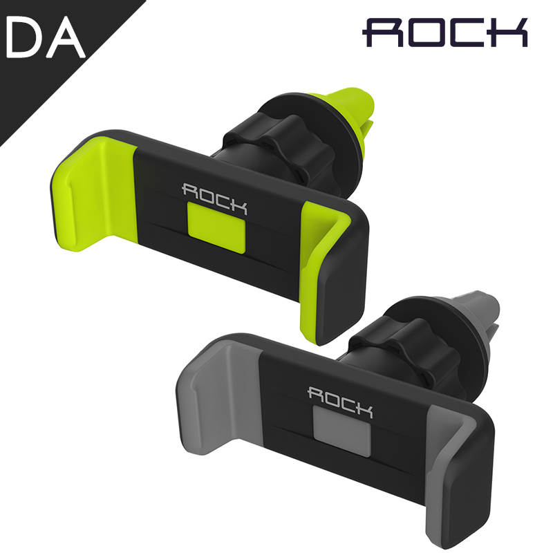 Original Rock Luxury Car Phone Holder Air Vent Mount Stand Adjustable Deluxe Car Vent Mobile Phone Holder For iPhone Samsung GPS(China (Mainland))