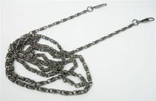 1.2 Meter Gunmetal Black Chain Bag Handle With Clasp 6 Pcs/Lot Fashion Chains Handbag Shoulder Strap Wholesale (China (Mainland))