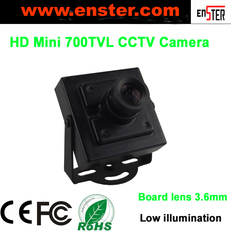 2015 Enster Free Shipping Board Lens 3.6mm Low illumination  700TVL Mini CCTV Camera SONY EFFIO-E,DWDR,DNR,<br><br>Aliexpress