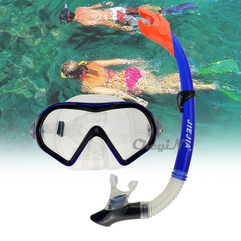JIEJIA Swimming Diving Glasses Protective Goggle Breathing Tube Snorkeling Mask Dry Snorkel Set YJ035-H30(China (Mainland))