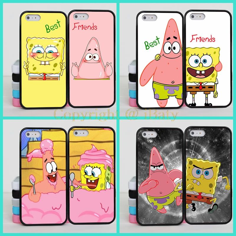 SpongeBob and Patrick are Best Friends Case For Apple iPhone 5S BFF Case Cover For iPhone 5 5G Phone(China (Mainland))