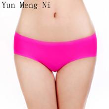 Buy Yun Meng Ni Women panties 4pcs/lot sexy ice silk traceless women lace girl briefs underwear calcinha tanga string lingerie BS04 for $8.73 in AliExpress store