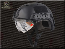 Emerson FAST airsoft Helmet with Protective Goggle Base Jump BJ Type Black EM8818B  wholesale price(China (Mainland))