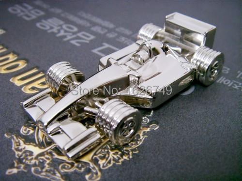 Free shipping full capacity cool Metal F1 race car USB Flash Drive 16GB 32GB Mini four-wheel drive U Disk Pen drive Newest(China (Mainland))