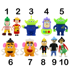 Pendrive Cartoon Toy Story Buzz USB Flash Drives 4GB 8GB 16GB 32GB 64GB  Thumbdrive Mr. Potato Head Memory Stick Flash Disk