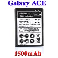 1500mAh OEM battery for Samsung GALAXY Ace S5830 GIO GT S5660 GT-S5670 Pro GT-B7510 ACCU Bateria Batterij Accumulator AKKU