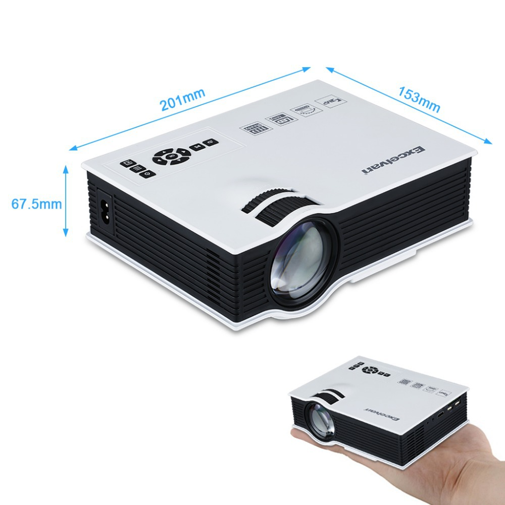 800 Lumens Home Theater Mini Portable Led Multimedia: UC40 800 Lumens Portable Mini LED Projector Multimedia
