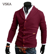 Cashmere Sweater Men 2015 Men'S Fashion Brand V-Neck Pull Homme Male Outdoor Designer Slim Elasticity Cardigan Men Sweater XXXL