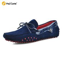 2016 Brand Summer Casual Men Suede Leather Slip-on Loafer Driving Shoe Fahion Boat Shoe Handmade Men Velvet Moccasin Dress Shoes