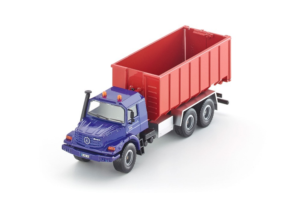 Siku 3546 Zetros roll-off skip Tipper truck 1:50 Dump alloy metal model car toy child gift collection - Play World store