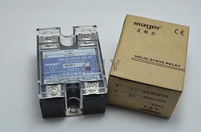 Фотография 5Pcs SSR 80DA  Solid State Relay  DC-AC  input  3-32VDC load 24-480VAC 80A