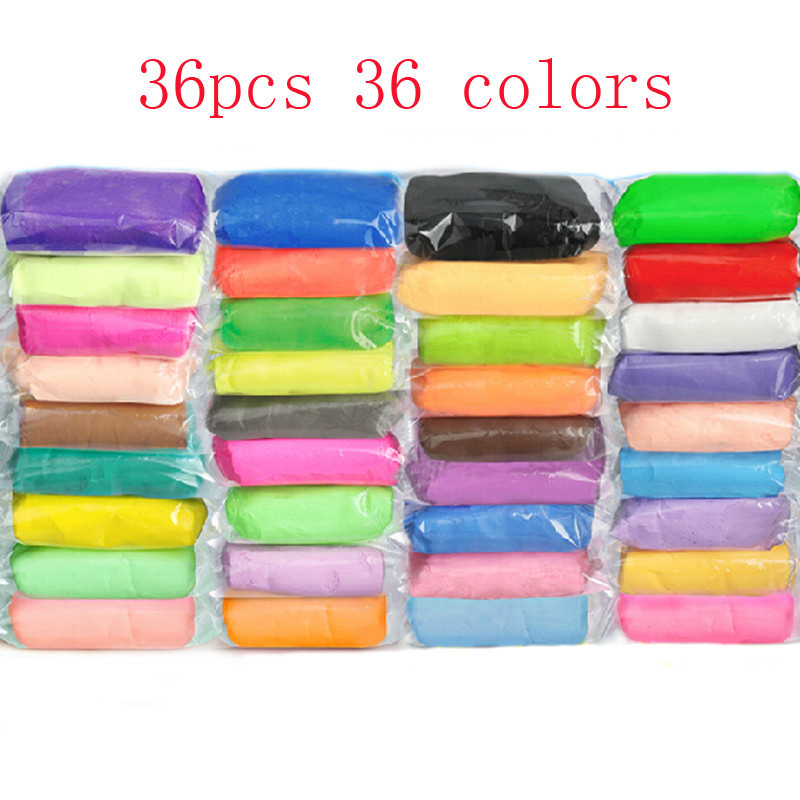 Play Doh 36 Colors Playdough Light Soft Fimo Polymer Clay Model Magic Sand Air Dry intelligent plasticine Play-doh Jumping Clay(China (Mainland))