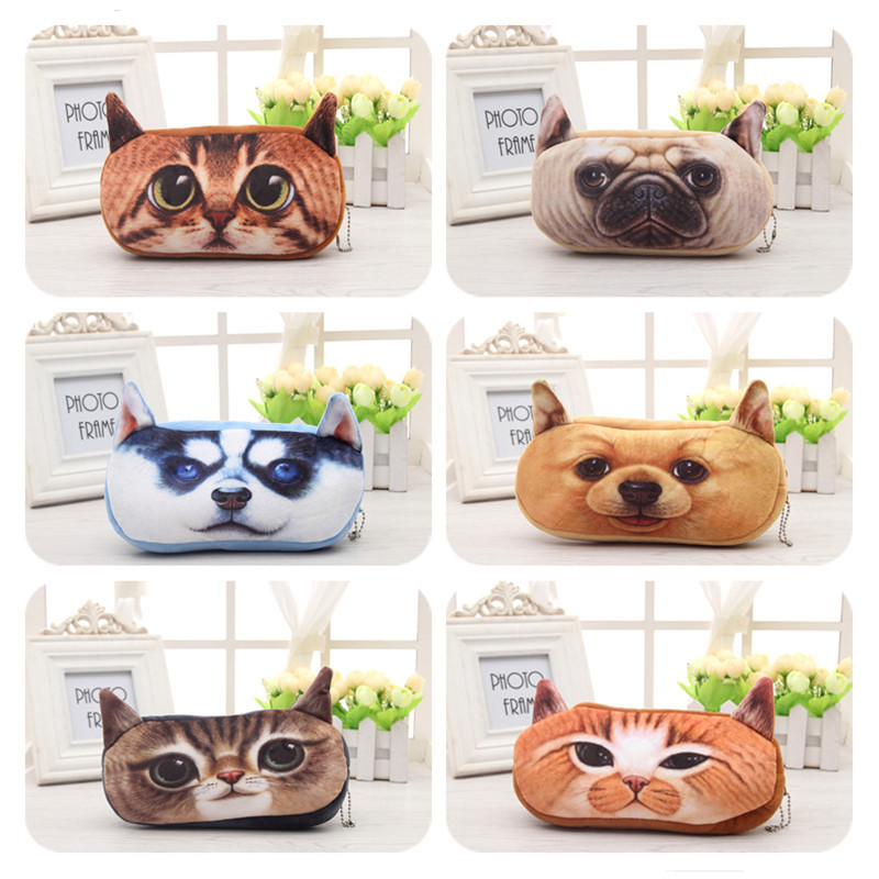 Cute cartoon 3 d new plush animal pen bag plush coin change packets take to receive package(China (Mainland))