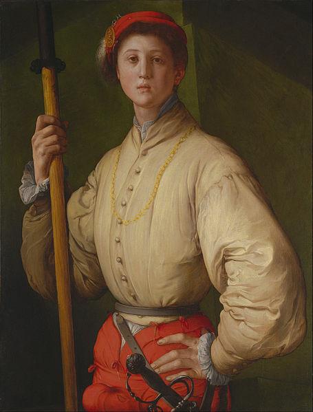 Canvas Art Prints Stretched Framed Painting Pontormo Jacopo Carucci <font><b>Italian</b></font> Florentine Portrait Halberdier Francesco Guardi