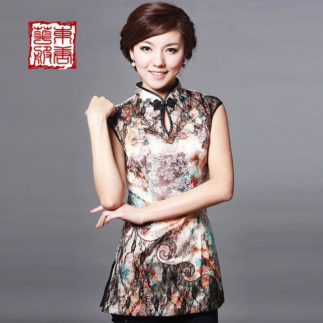 Cheongsam 2013 summer tang suit fashion short qipao top