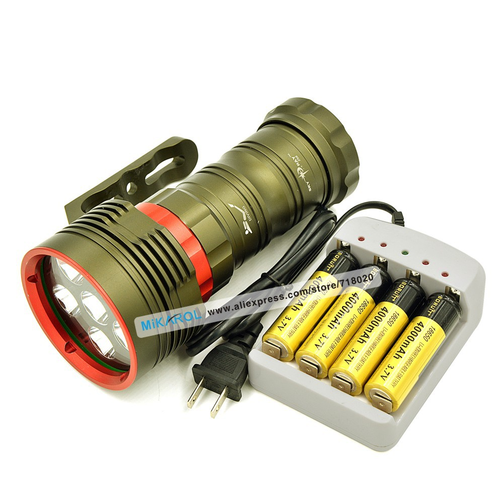 Здесь можно купить  8000LM Powerful Flashlight Torch Light Diving LED LIght L2 Rechargeable Use 6 x Cree XM-L2 LED Torch for Diving  Свет и освещение