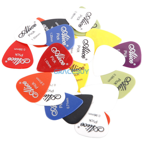 30pcs Bass Guitar Picks Alice Multi Smooth ABS Custom Acoustic Electric Guitarra Plectrums Accessories Musical Instrument Puas(China (Mainland))