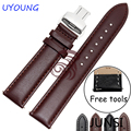 High Quality Genuine Leather Watchband 22mm Black Brown Strap For Pebble Time Steel New Hot Free