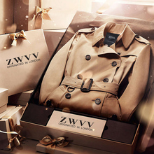 ZWVV winter British male trench coat slim type short double breasted coat Mens s casual jacket(China (Mainland))
