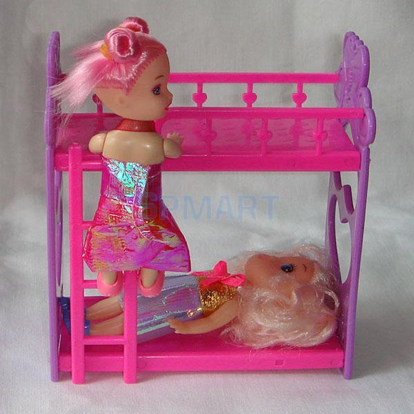 1Pcs Doll Accessory Bunk Bed Random Color(China (Mainland))