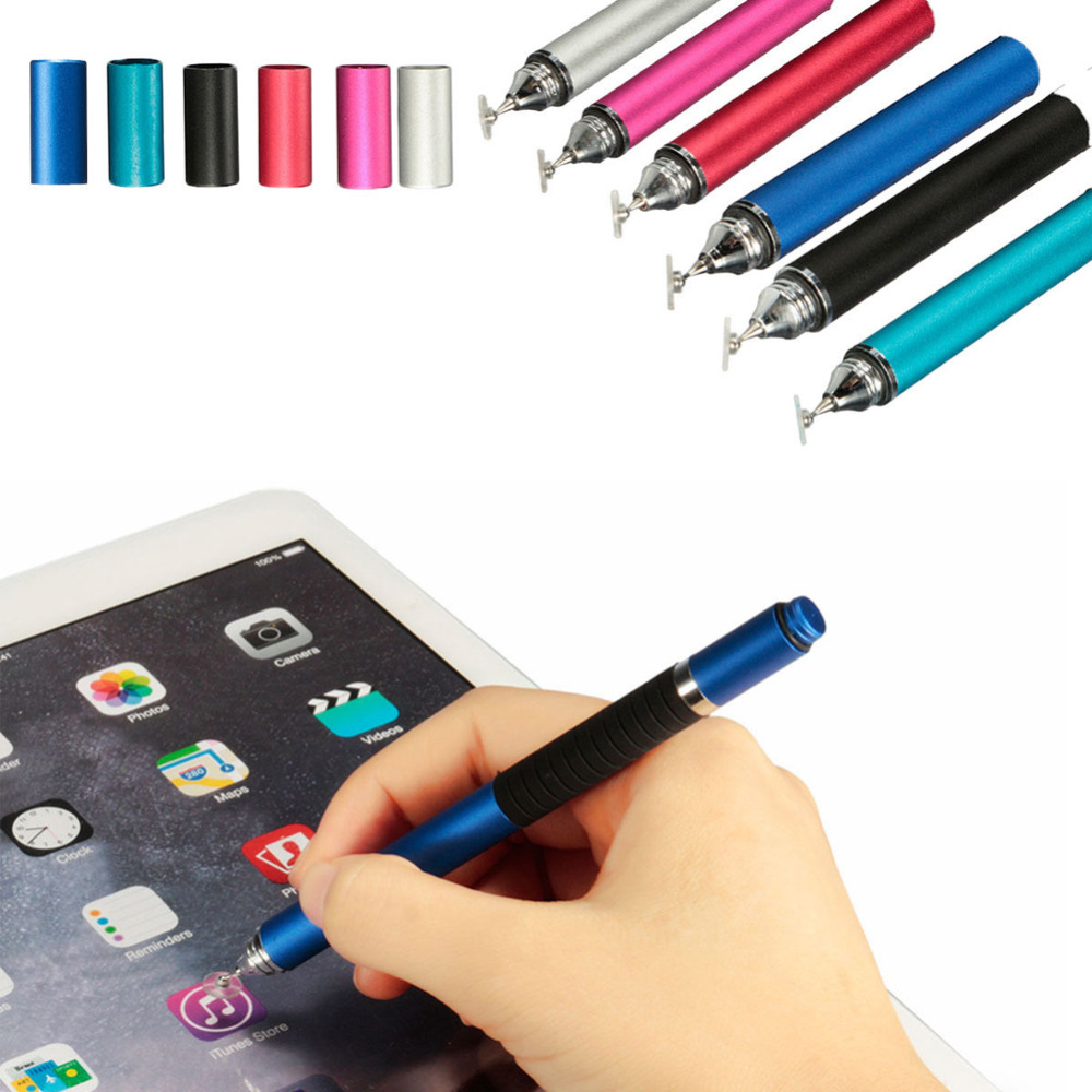 2016 New Arrival Metal Fine Point Round Thin Tip Capacitive Touch Screen Stylus Pen Ballpoint Pen for Tablet Ipad Tablets Pen(China (Mainland))
