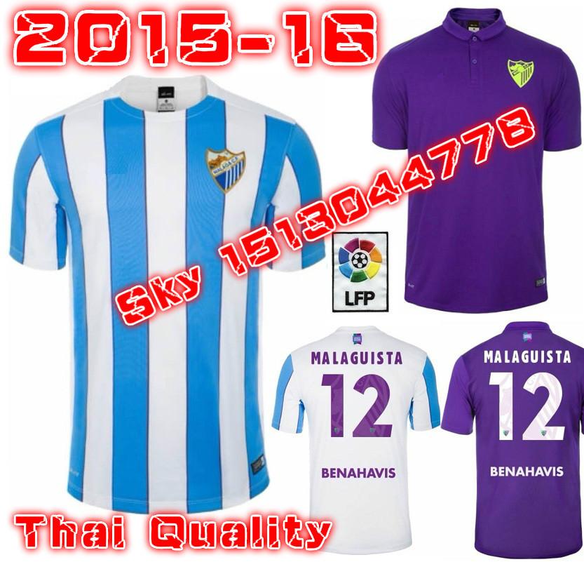 2016 MALAGA FC soccer jersey 15 16 MALAGUISTA ALBERTO JUANMI football shirts AMRABAT malaga camisa de futebol(China (Mainland))