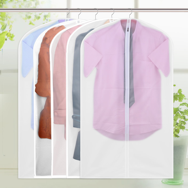 New Translucent PEVA Clothes Dust Cover Suit Cover Washable Clothing Storage Bags For Suit Overcoat Jacket High-quality(China (Mainland))