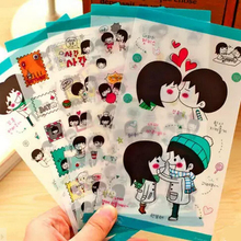 5 PC DIY photo album accessories tools, South Korea's diary decorative stickers, hip-hop girl, sweet couple stickers