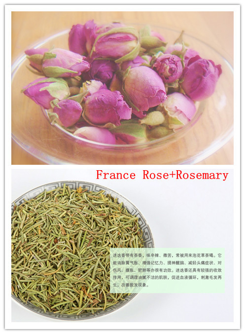 new product Herbal tea 150g=France Rose bud 75g+Rosemary Tea 75g,slimming tea,Moist skin health product +Free shipping(China (Mainland))