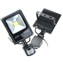 10W 20W 30W 50W PIR Motion Sensor LED Floodlight Induction Sense Outdoor Spotlight Flod Light IP65 Cold White Warm White 85-265V(China (Mainland))