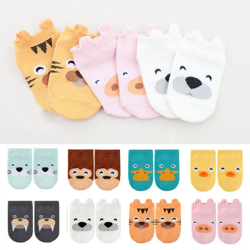 Wholesale Baby Kids Small Infant Socks Little Ears Cotton Socks Cartoon Socks 8 Colors