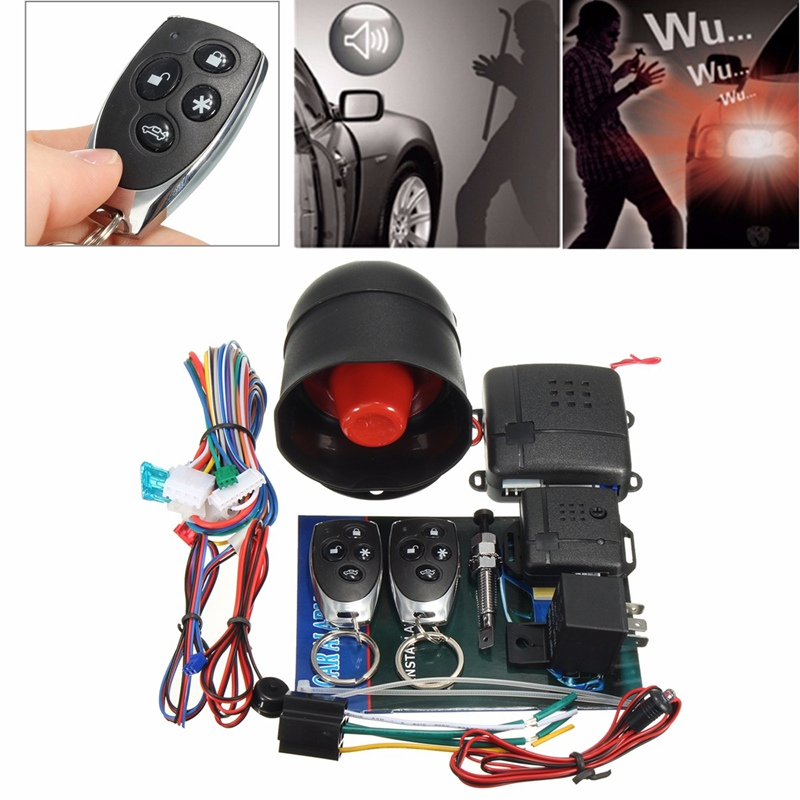 LB-100D One-Way Car Auto Remote Central Kit Smart Programmable Alarm System Keyless Door Lock Locking With Remote Controllers(China (Mainland))