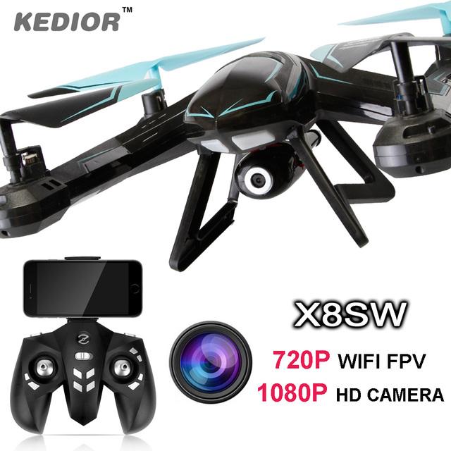 X8SW RC Drone FPV Quadcopter Вертолет 2.4 Г 4CH 6-осевой RC Quadcopter дроны Могут Добавить в Режиме реального времени 720 P Wifi FPV Или 1080 P HD Камера