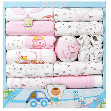 free shipping new 2015 100 cotton newborn baby clothing sets 15pcs infants suit baby girls boys