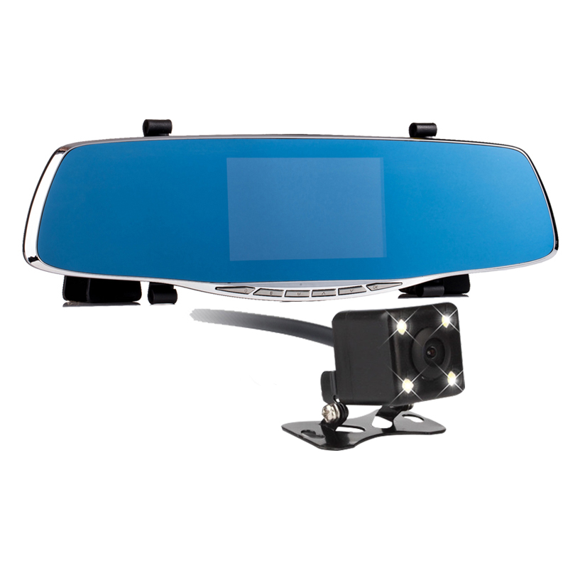 Full HD 1080P Car Camera Dvr Blue Review Mirror Digital Video Recorder Auto Navigator Registrator Camcorder Novatek 96650 Camera(China (Mainland))