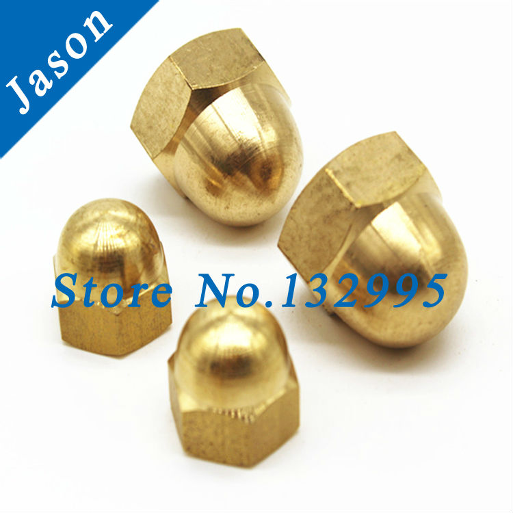Brass Acorn Nut  M10   DIN1587 Brass Dome Head hex Nuts/Decorate nuts/Protection Cover Nuts/Cap Nuts<br><br>Aliexpress