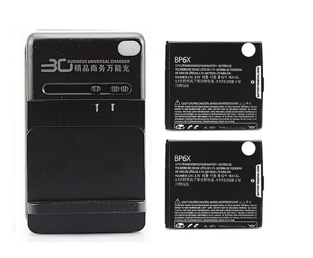 2x 1390Mah BP6X Battery +Charger For Motorola CLIQ MB200,2 MB611,XT MB501,XT610,Droid A855, 2 A955,A956,Pro A957 XT610,i1 XT720
