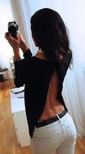 Backless Summer Fashion Women Casual Lace Shirts Chiffon Blouses T Shirt Tops
